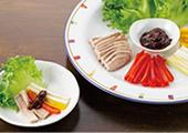 塩豚の彩野菜梅しそディップ添え